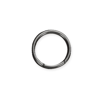 BCRPB5 BALL CLOSURE RING CIRCLE WITH -   COLOR BLACK
