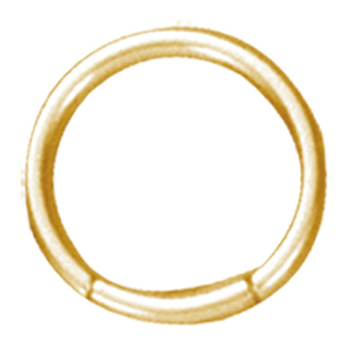 BCRPG5 BALL CLOSURE RING CIRCLE - PVD 1.2 * COLOR GOLD