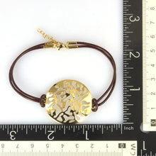 Load image into Gallery viewer, BSS492 STAINLESS STEEL LEATHER BRACELET