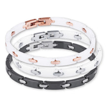 Load image into Gallery viewer, CBS01 STAINLESS STEEL BRACELET WITH CERAMIC