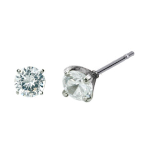 ESJ01 STAINLESS STEEL EAR STUDS CZ