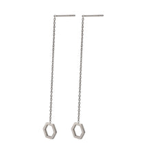 Load image into Gallery viewer, ESS645 STAINLESS STEEL EARRING WITH HEXAGON