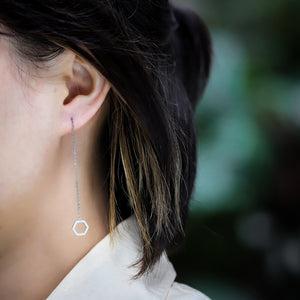 ESS645 STAINLESS STEEL EARRING WITH HEXAGON