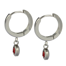 Load image into Gallery viewer, ESS651 STAINLESS STEEL EARRING WITH FOIL STONE
