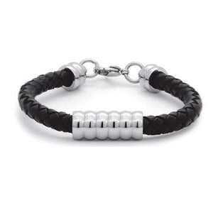 EXBR60 STAINLESS STEEL&LEATHER BRACELET GENTLEMEN INORI