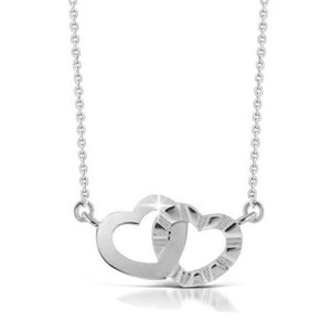 EXP183A STAINLESS STEEL NECKLACE FEELINGS CIRCLE OF HEARTS