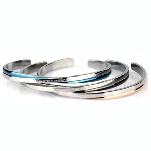 GBSG28 STAINLESS STEEL BANGLE Tomorrow is another day