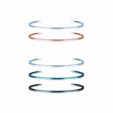 GBSG14 STAINLESS STEEL BANGLE WITH ERODING