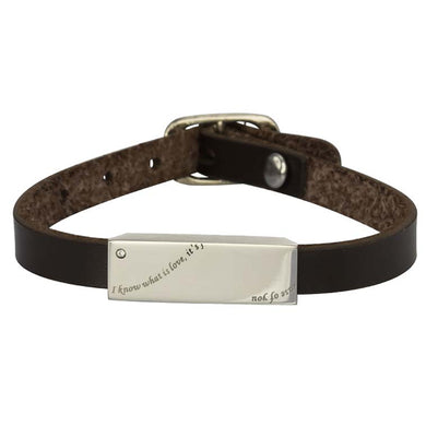 GBSS112 STAINLESS STEEL LEATHER BRACELET