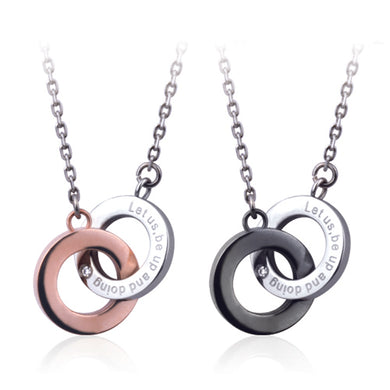 GNSS68 STAINLESS STEEL NECKLACE    Let us, be up and doing