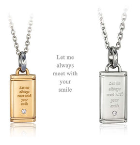 GPSD114 STAINLESS STEEL PENDANT  Let me always meet with  your  smile