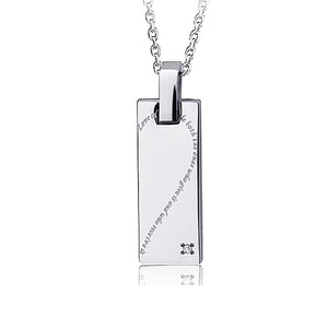 GPSD95 STAINLESS STEEL PENDANT  Love cures people both the ones who give it and who receive it