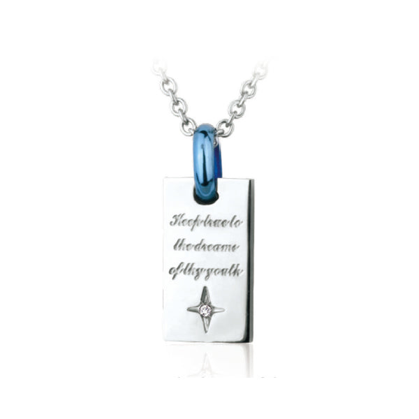 GPSS417 STAINLESS STEEL PENDANT  Keep true to the dreams of thy youth