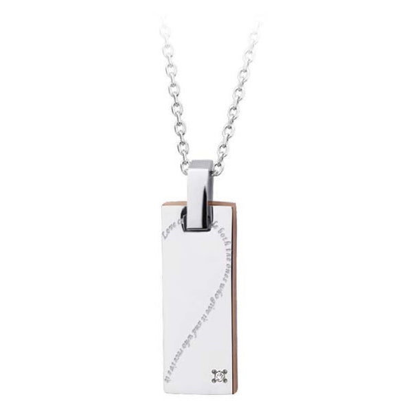 GPSS506 STAINLESS STEEL PENDANT  Love cures people both the ones who give it and who receive it