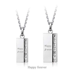 GPSS517 STAINLESS STEEL PENDANT  Happy forever