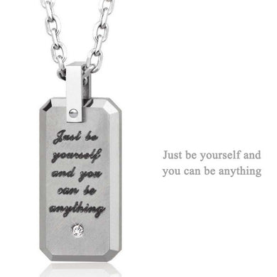 GPTS75 TUNGSTEN PENDANT Just be yourself and you can be anything