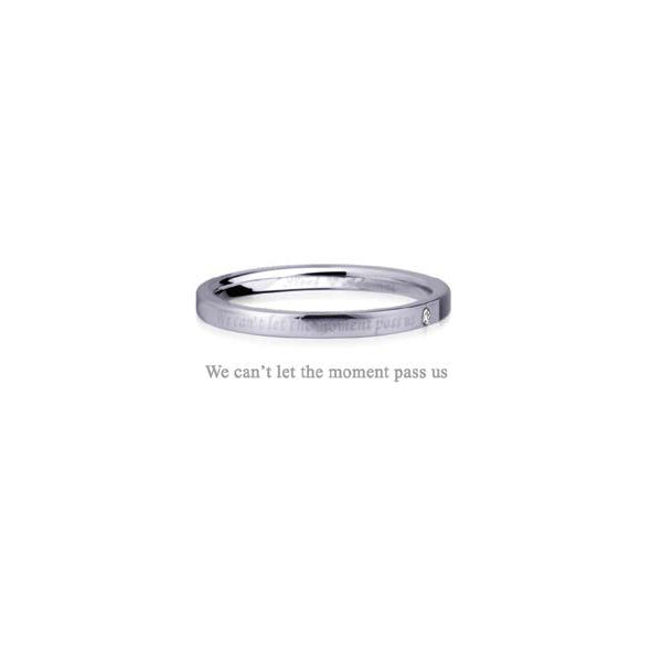 GRSD33 STAINLESS STEEL RING  We can't let the moment pass us
