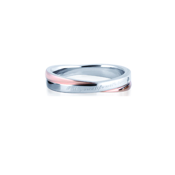 GRSS207 STAINLESS STEEL RING Fill your life with love