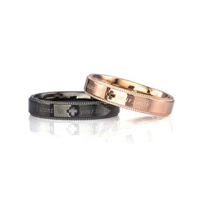 GRSS473 STAINLESS STEEL RING  I want see your smile