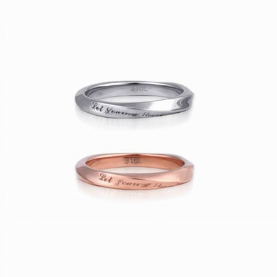 GRSS206 STAINLESS STEEL RING  Let yourself bloom