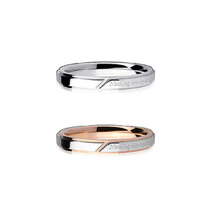 GRSS337 STAINLESS STEEL RING  Nothing can replace you
