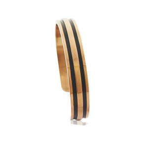 INB73B STAINLESS STEEL BANGLE W PVD