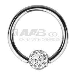JCS07 BCR WITH JEWELLED DESIGN 1.2 * 8 * 4 COLOR STEEL/CRYSTAL