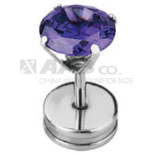 Load image into Gallery viewer, JRU32 FAKE PLUG WITH ROUND STONE  1.2 * 6 * 4 COLOR