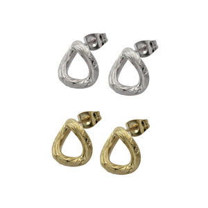 GESS182 STAINLESS STEEL EARRING