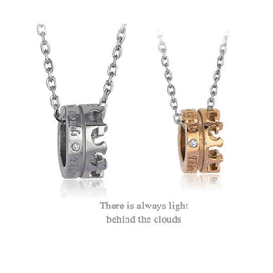 GPSS637 STAINLESS STEEL PENDANT  There is always light behind the clouds