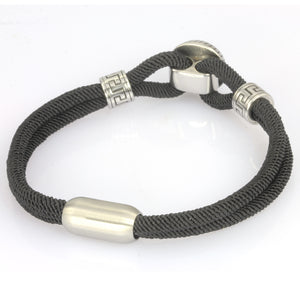 MBSS01 NYLON BRACELET WITH STAINLESS STEEL CLOSURE AND PART