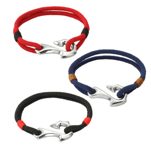 MBSS09  NYLON BRACELET WITH STAINLESS STEEL CLOSURE