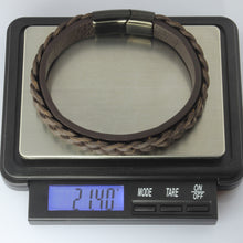 Load image into Gallery viewer, MBSS23 LEATHER BRACELET WITH STAINLESS STEEL CLOSURE