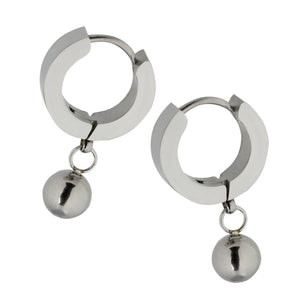 MESS25 STAINLESS STEEL EARRING WITH BALL