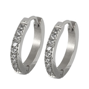 MESS28 STAINLESS STEEL EARRING WITH CZ