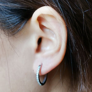 MESS29 STAINLESS STEEL EARRING WITH CZ
