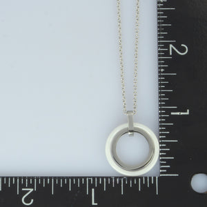 MNSS04 STAINLESS STEEL NECKLACE WITH CERAMIC