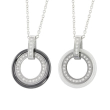 Load image into Gallery viewer, MNSS05 STAINLESS STEEL NECKLACE WITH CERAMIC&CZ