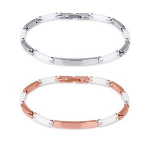 CBS03 STAINLESS STEEL BRACELET WITH CERAMIC