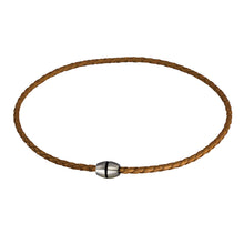 Load image into Gallery viewer, NSS361 STAINLESS STEEL LEATHER NECKLACE