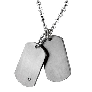 PSDT03 STAINLESS STEEL PENDANT CZ