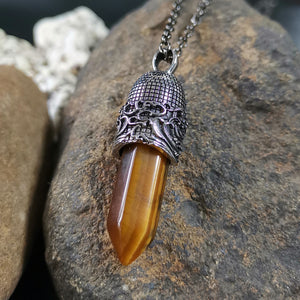 PSS1098 STAINLESS STEEL PENDANT WITH NATURAL STONE
