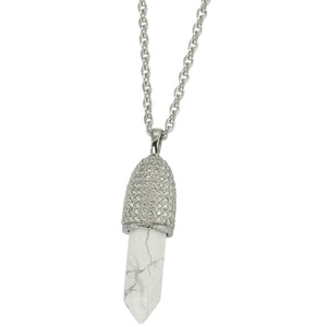 PSS1099 STAINLESS STEEL PENDANT WITH NATURAL STONE