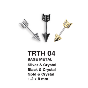 TRTH04 BARBELL WITH ARROW DESIGN