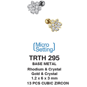 TRTH295 HELIX WITH FLOWER DESIGN