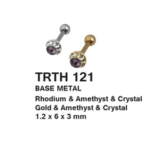 Load image into Gallery viewer, TRTH121 HELIX WITH STONE DESIGN 1.2*6*3