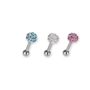 BRTH03 BARBELL WITH JEWELED BALL