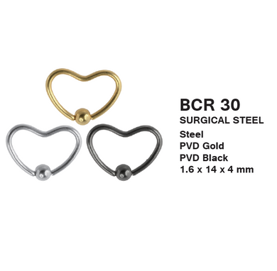BCR30 BCR WITH HEART DESIGN 1.6 * 14 * 4