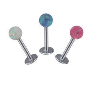 BLBJ11 INTERNAL LABRET WITH OPAL  1.2 * 8