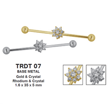 Load image into Gallery viewer, TRDT07 BARBELL WITH BATTERFLY DESIGN 1.6*35*5